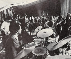 Frank Zappa, Philly Joe Jones, Earl Freeman, Louis Maholo, John Dyani, Grachan Moncur III, and Archie Shepp meet in a jam set