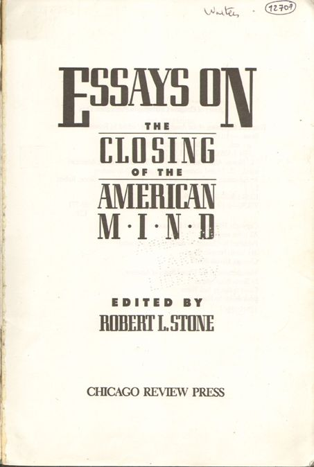 Book Review: The Closing of the American Mind