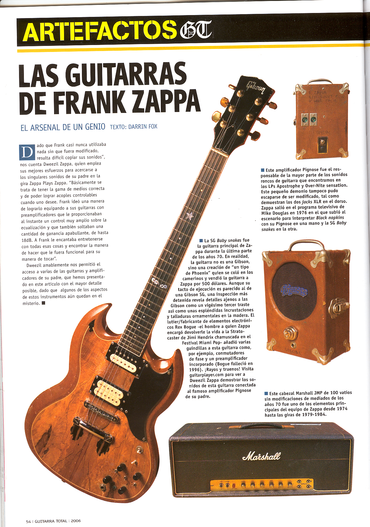 Gibson Sg Roxy Wiring Diagram Start Building A For Is Gibsons Frank Zappa Model Cool Or What Everythingsg Com Rh Two Humbucker 1tone 1 Vol